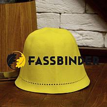 Шапка для бани и сауны из шлифованного пуха сибирского кролика Fassbinder™, желтая