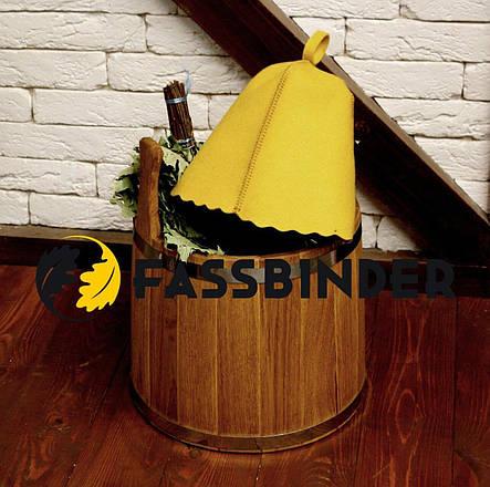 Шапка для бани и сауны Fassbinder™ цветной войлок (желтый), фото 2