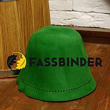Шапка для лазні і сауни з шліфованого пуху сибірського кролика Fassbinder™, зелена