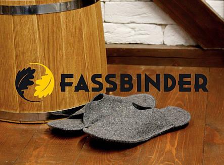 Тапки для бани и сауны большие классические Fassbinder™, серый войлок 7trav, фото 2