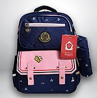 Школьный рюкзак с пеналом | детский портфель ранец для девочки 7-8-9-10 лет