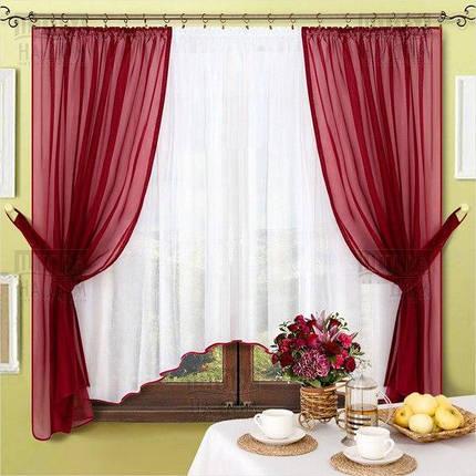 Комплект штор Джоанна Бордо, кухонные, фото 2