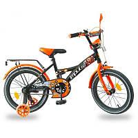Велосипед детский, 14 д. цвет черно-оранжевый IMPULS, фото 1