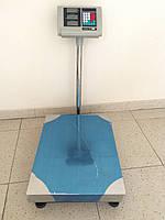 Весы торговые K&S электронные (до 500 кг) с платформой и счетчиком цены на трубе (на стойке) DJV /06