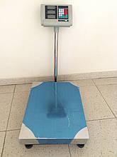 Ваги торгові K&S електронні (до 500 кг) з платформою і лічильником ціни на трубі (на стійці) DJV /06