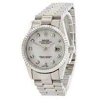 Часы Rolex Date Just Silver-White Pearl SKL39-225391
