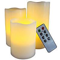 Набор из 3 свечей  Supretto с пультом (4570)