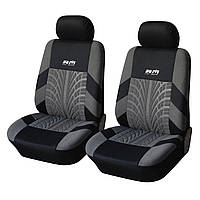 Чехлы на передние кресла автомобиля Supretto Серо-черный (4906)