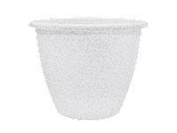 """Вазон """"Верона"""" 45*34,0 см, 31,5 л (білий флок)"""