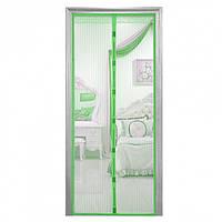 Дверная антимоскитная сетка Magic Mesh 210х100 см Зеленый (258507)