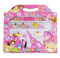 Набор школьных принадлежностей Beetbear 7 предметов Розовый (56660002)