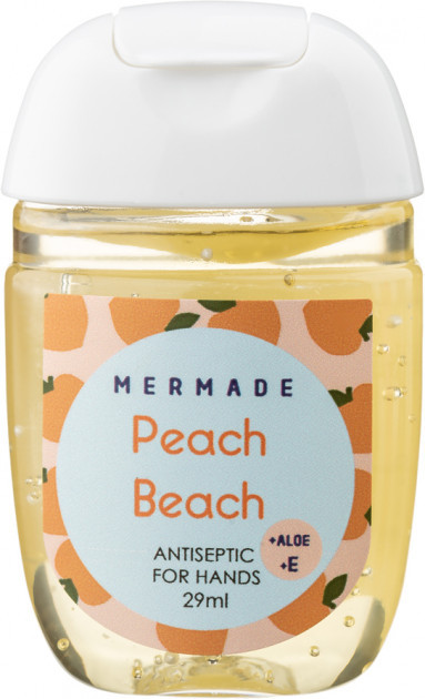 Санитайзер антисептик для рук Mermade Peach Beach Perfume Hand Gel 29 мл