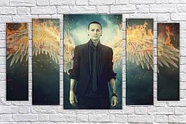 Картина модульная HolstArt Linkin Park 55*100см 5 модулей арт.HAB-231