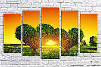 Картина модульная HolstArt Дерево любви 2 71*128 см 5 модулей арт.HAB-259
