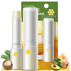 Гигиеническая помада-бальзам для губ One Spring с медовым экстрактом 3 г