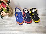 Мокасины на мальчика(сетка)  28 30 31  р SUPER GEAR синие с оранжевым.., фото 3