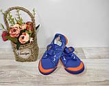 Мокасины на мальчика(сетка)  28 30 31  р SUPER GEAR синие с оранжевым.., фото 5
