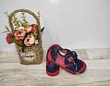 Мокасины на мальчика(сетка)  28 30 31  р SUPER GEAR синие с оранжевым.., фото 7
