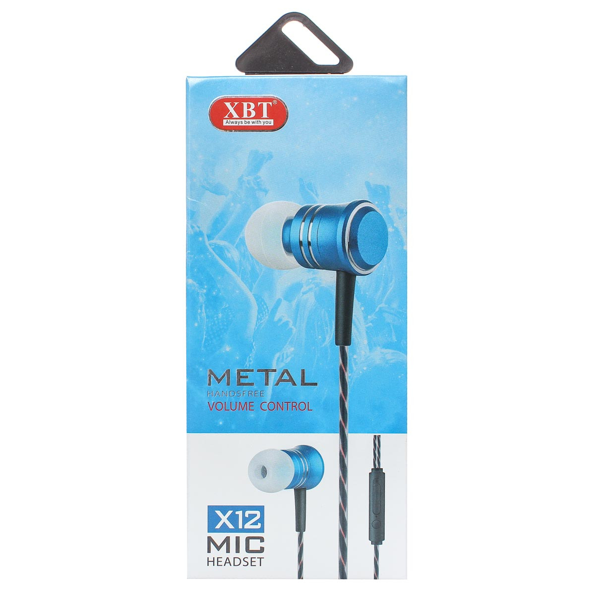 Наушники проводные с микрофоном Xbt X12 черный 166101
