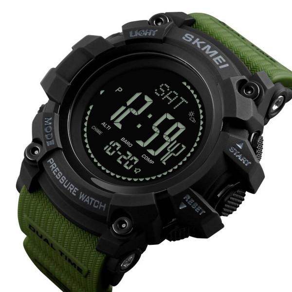 Skmei Мужские часы Skmei Processor Green с шагомером и барометром