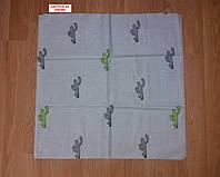 Наволочка бязь 60х60 - Кактуси на сірому