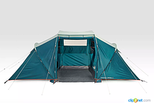 Палатка Arpenaz 4.2 QUECHUA. Четыреместная, двухкомнатная