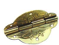 Петля золото з тисненням 43х35 мм, фото 1