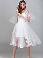 Воздушное платье-сетка. Платье на выпускной вечер. Женская нарядная одежда