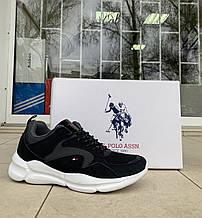 Мужские кроссовки сникеры US Polo Assn оригинал натуральная замша 45