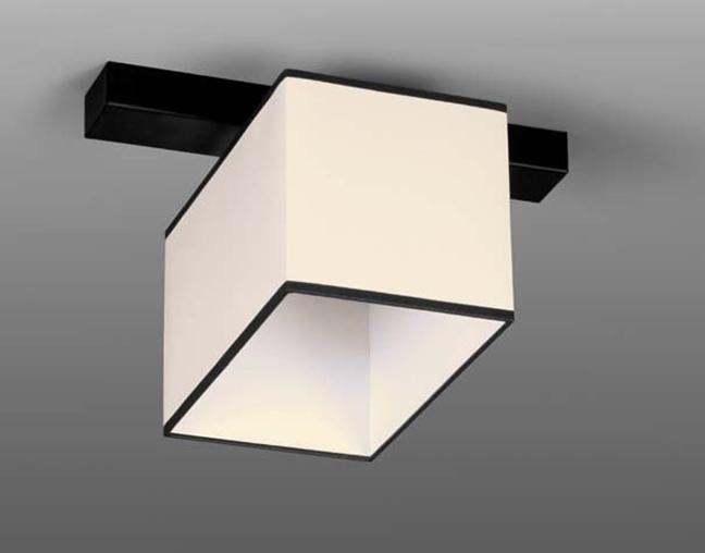 Люстра потолочная на одну лампу 29-H170/1A BK+WT(1шт) E27 TK
