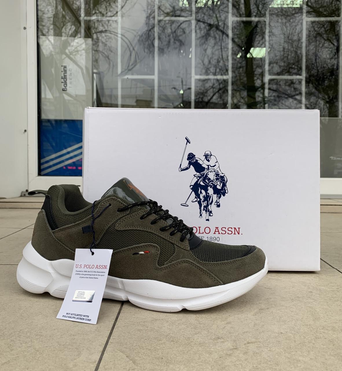 Мужские кроссовки сникеры US Polo Assn оригинал натуральная замша 43