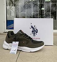 Мужские кроссовки сникеры US Polo Assn оригинал натуральная замша 43, фото 1