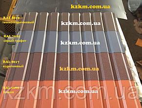 Двухсторонний матовый профнастил коричневый