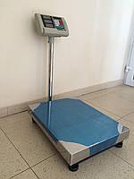 Весы торговые K&S электронные (до 600 кг) с платформой и счетчиком цены на трубе (на стойке) DJV /26