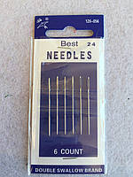 Иголки NEEDLES № 120-056-24 (37мм/6шт) для вішивания