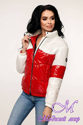Женская осенняя куртка без капюшона (р. 44-54) арт. 12-36/20-7, фото 2