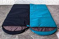 Парный Туристический спальный мешок (до-2). Спальник туристический для похода весна и осень