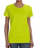 Футболка Gildan Ladies Heavy Safety Green