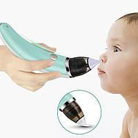 Детский аспиратор Lesko XN-8031 электронное вакуумное приспособление для очистки носовой полости ребенка