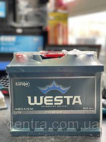Автомобильный аккумулятор WESTA 6СТ-50 L+ Premium 480A