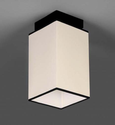 Люстра стельова на одну лампу 29-H171/1 BK+WT(1шт) E27 TK