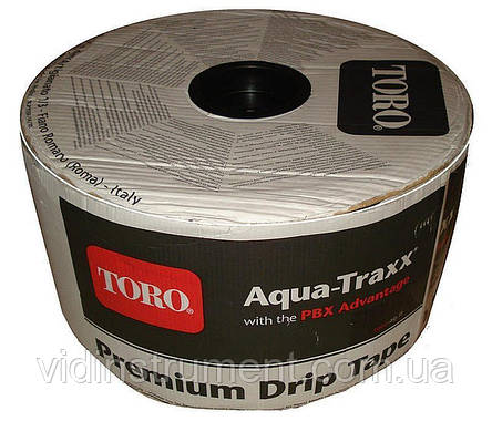Крапельна стрічка Aqua-Traxx (відстань 10-15-20,стінка 5мм, довжина 4200м), фото 2