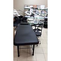 Кушетка косметологічна CH-266A black/white/cream+стілець майстра CH-836+столик косметолога MZT-099+лампа-лупа