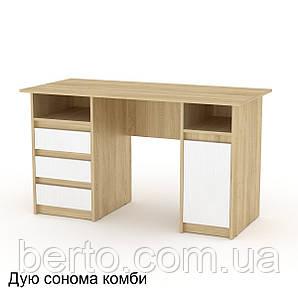"""Письменный стол с двумя тумбами """"Декан-2"""" компанит 1300*600 мм."""