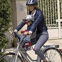 Велокресло детское, крепится спереди сиденья велосипеда. 3цв. 20*37*57см до 15 кг TILLY