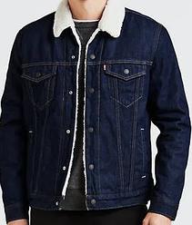 Зимняя джинсовая куртка Levis Trucker -   Rockdige (XL)