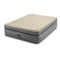Надувная кровать двуспальная Intex 64164 с электронасосом 220V (152-203-51 см)