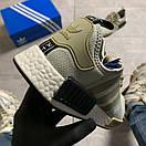 Женские кроссовки Adidas NMD Runner Grey Green / Адидас НМД Серые Зеленые, фото 2