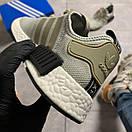 Женские кроссовки Adidas NMD Runner Grey Green / Адидас НМД Серые Зеленые, фото 3