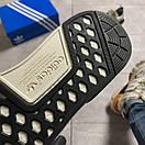 Женские кроссовки Adidas NMD Runner Grey Green / Адидас НМД Серые Зеленые, фото 4